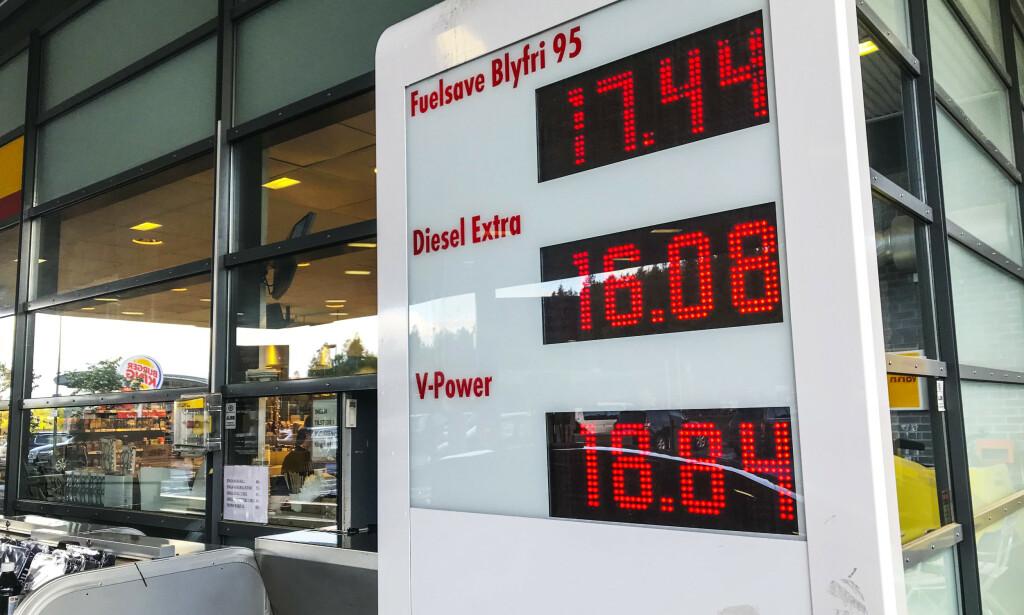 DYRERE DRIVSTOFF: På grunn av angrepene i Saudi-Arabia har prisen på råolje steget mandag. Det fører til dyrere bensin og diesel her i Norge. Foto: NTB / Scanpix