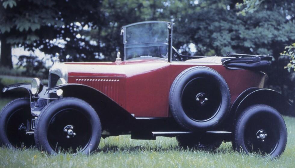 <strong>5CV:</strong> Kjempesuksess og masseproduksjon på 83 000 billige biler 1922-1926. 850 kubikk, 11 hester – og selvstarter! Foto: Geir Hovensjø