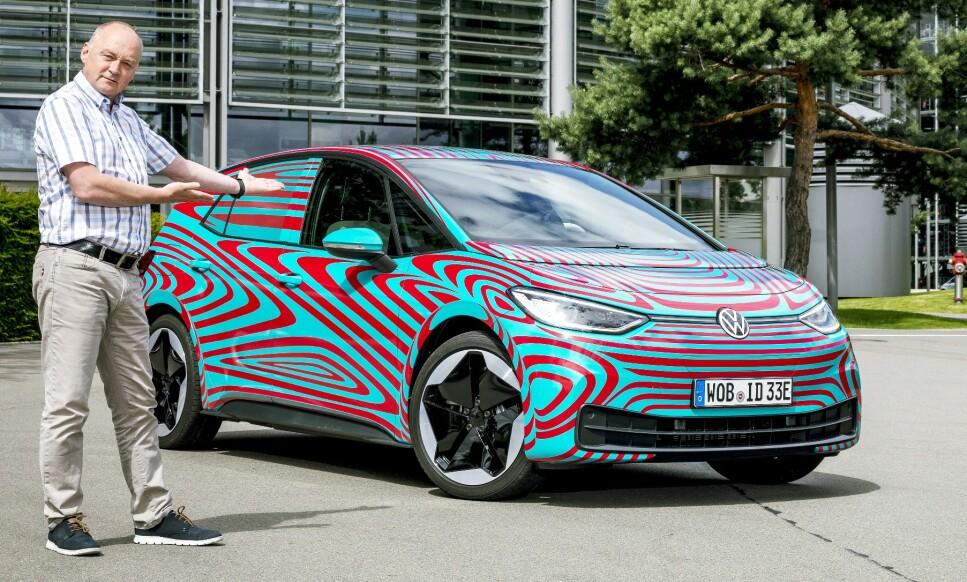 PREMIEREKLAR: Vår journalist har allerede prøvekjørt den nye elbilen ID.3 fra Volkswagen. Han tror dette kan bli Norges mest solgte bil. Foto: Fred Magne Skillebæk