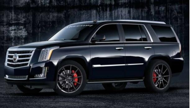 EL-SUV: Gigant-SUVen Cadillac Escalade, som er rappernes favoritt over dammen, skal også elektrifiseres. Foto: Cadillac