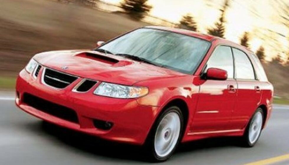 SAABARU: En Subaru med Saab-grill. Foto: Saab