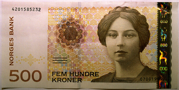 UTGÅR: 500-lappen med Sigrid Undset utgår 18. oktober. Den har da vært i omløp fra 1999. Foto: NTB scanpix
