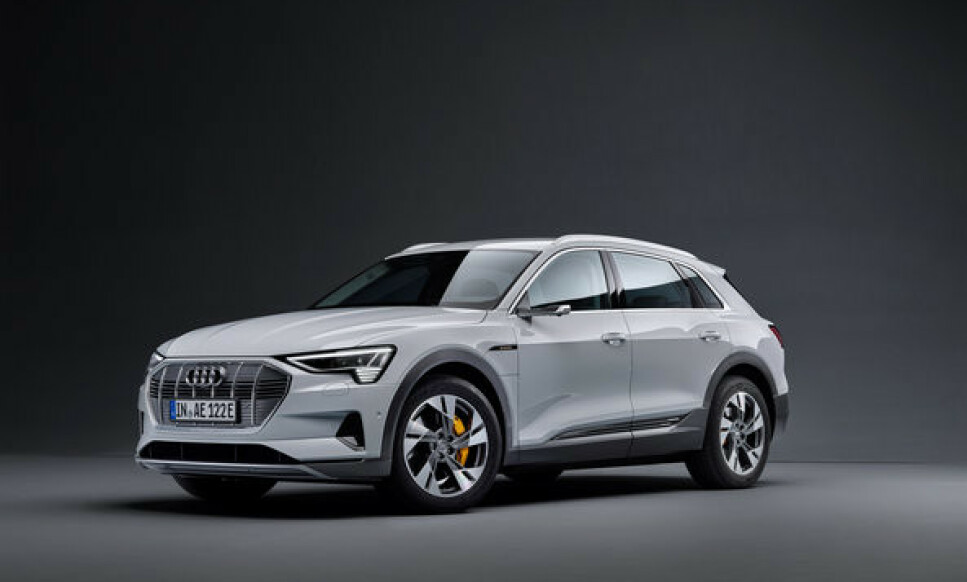 PRISET: Innstegsmodellen Audi e-tron 50 blir 160.000 kroner rimeligere enn e-tron 55. Foto: Audi