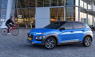 INGEN ENDRINGER: Kun felgene er nye på Kona Hybrid utvendig. Foto: Hyundai