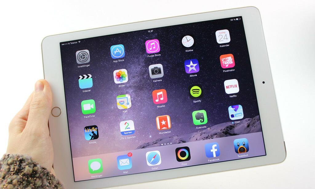 KJØPTE BRUKT IPAD: Pakken skulle inneholde en iPad Air 2, som på bildet. Det gjorde den derimot ikke. Foto: Kirsti Østvang