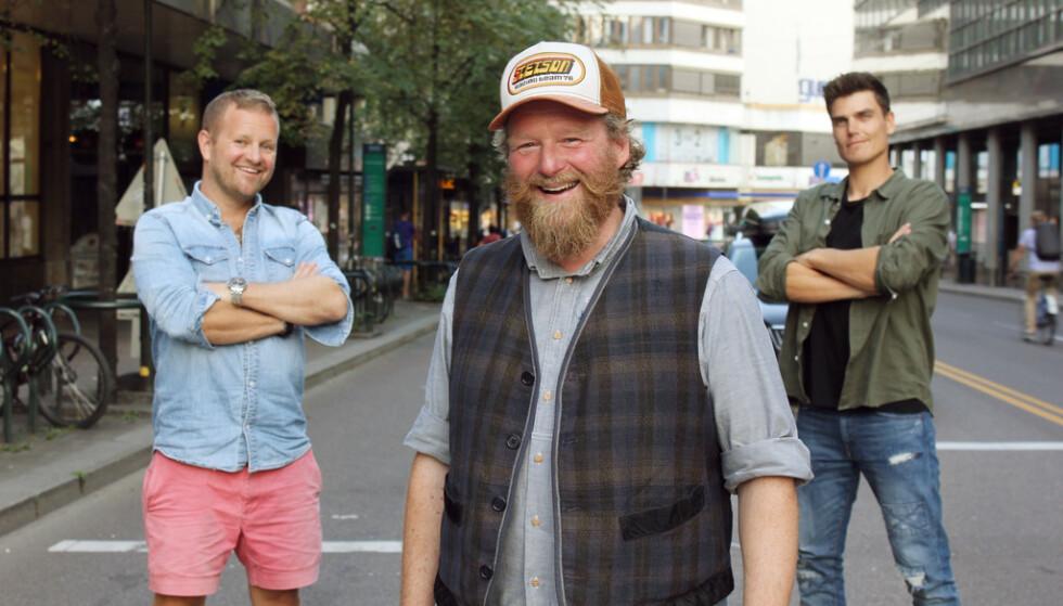 NYE PROGRAMLEDERE: Esben Ullbæk Bundgaard-Jørgensen «Dansken» Selvig, Petter Schjerven og Fredric Aasbø skal lede «Top Gear Norge». Foto: TVNorge