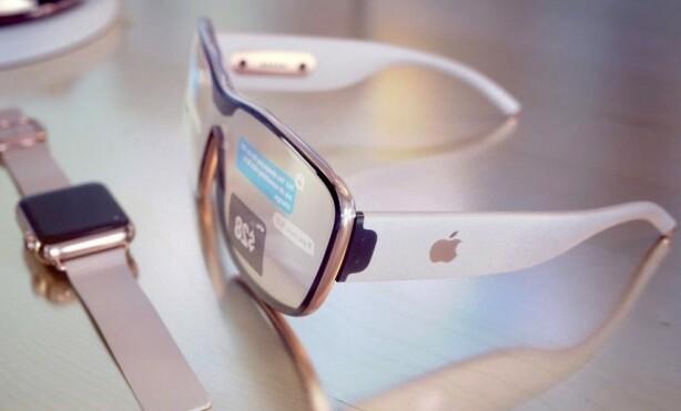 KONSEPT: I årevis har man spekulert i når Apple-brillene kommer. Her er et av konseptene som har dukket opp på nettet. Foto: Martin Hajek
