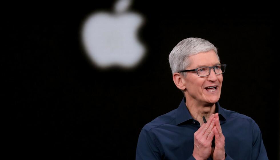 STRAKS HØSTLANSERING: Førstkommende tirsdag skal Apple med Tim Cook i spissen vise frem nye iPhone-modeller - og kanskje litt til? Foto: Karl Mondon/Pa Photos/NTB Scanpix