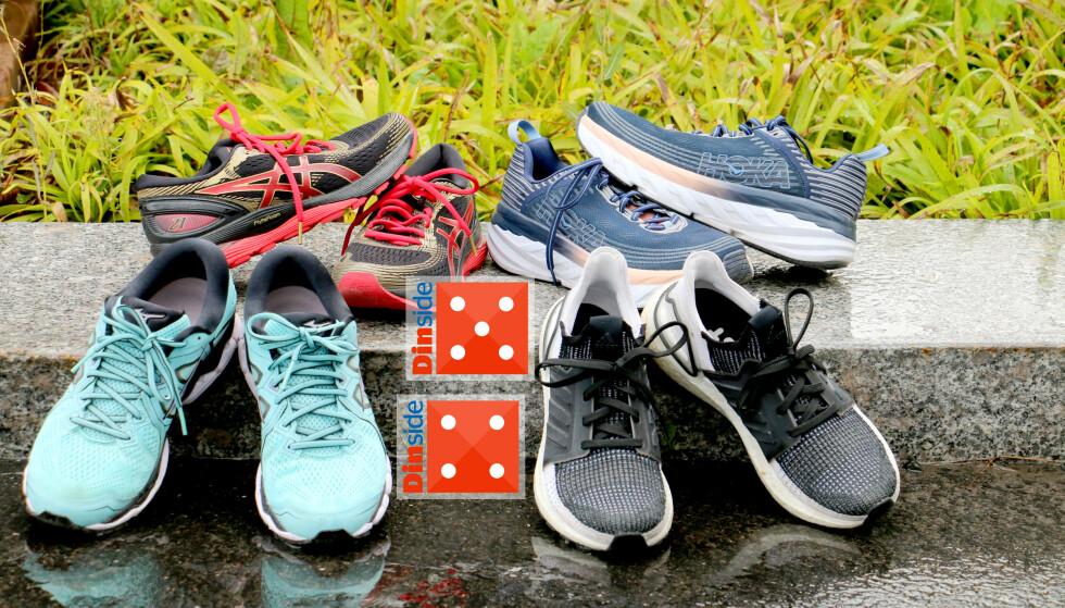 TEST AV JOGGESKO: Vi har testet løpesko fra Adidas, Asics, Mizuno og Hoka. Alle består med glans - men det er noen vi liker bedre enn andre. Foto: Kristin Sørdal