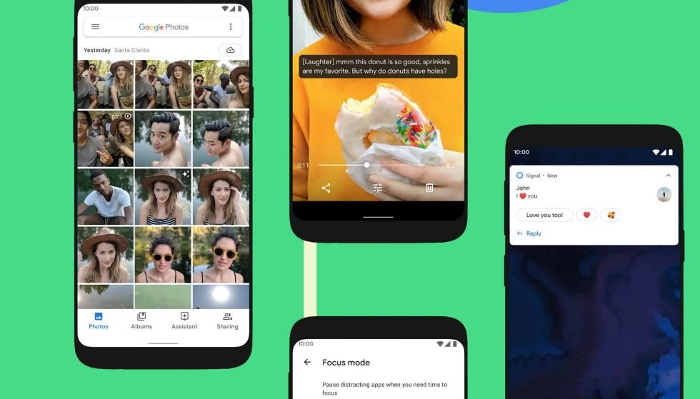 NY NAVNGIVING: Nå har Google gått bort fra desserter og slikkerier. Den nye Android-versjonen heter rett og slett Android 10. Foto: Google