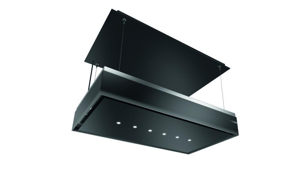 MED HEIS: Ikke i bruk? Da kan den fungere som taklampe - øverst oppe i taket. Foto: Bosch