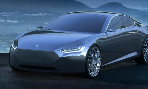 INSPIRERT AV TESLA: Tesla har inspirert de fleste i elbil-verdenen - også den nye superbilen til Fresco Motors i Trondheim. Bilde: Fresco Motors