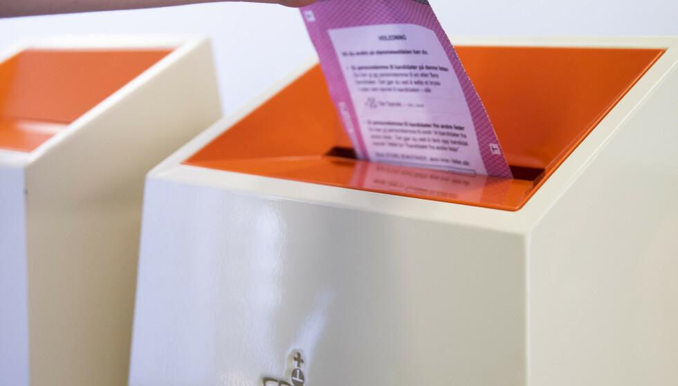 SLIK STEMMER DU: Alt du trenger å vite om valglokaler, stemmesedler, valgkort, personstemmer og «slengerstemmer». Foto: NTB scanpix
