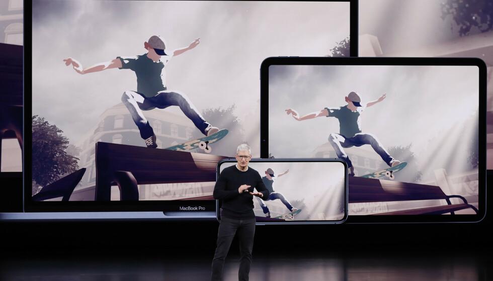 APPLE ARCADE: Apples spilltjeneste blir tilgjengelig i september. Foto: Stephen Lam/Reuters/NTB Scanpix