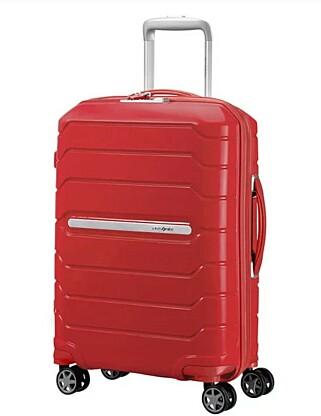 KABINKOFFERT FRA SAMSONITE: Kofferten Flux fra Samsonite vinner testen, men kun hårfint foran den mye billigere Rusta-kofferten. Den finnes i flere størrelser, men denne som er testet koster 1.899 kroner. Foto: Samsonite
