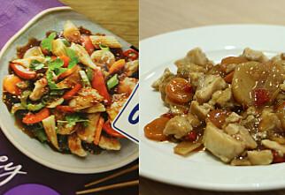 Bildet på emballasjen vs den ferdige maten