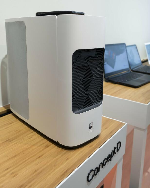 HVOR SETTER MAN KOPPEN: Vi får assosiasjoner til en kaffemaskin når vi ser på ConceptD. Foto: Martin Kynningsrud Størbu