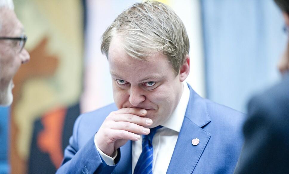 IKKE FORNØYD: Leder i arbeids- og sosialkomiteen, Erlend Wiborg (FrP), mener Nav må gjøre mer for å hjelpe folk ut i arbeid. Foto: Jon Olav Nesvold / NTB scanpix