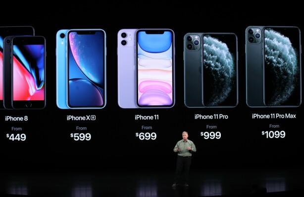 UTVALGET: Apple beholder også iPhone 8 i sortimentet sammen med iPhone Xr og de nye modellene. Foto: Justin Sullivan/Getty Images/AFP/NTB Scanpix