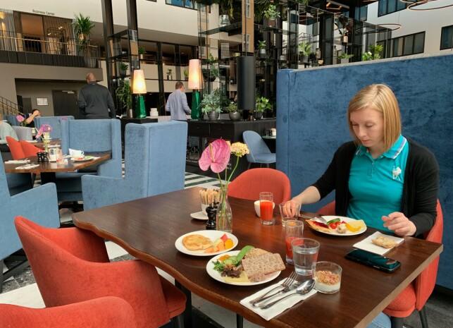 Hyggelige frokostområder. Foto: Kristin Sørdal