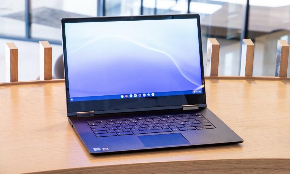 CHROMEBOOK: Mye er bra med ChromeOS, men dessverre er det også en del som er dårlig. Foto: Martin Kynningsrud Størbu