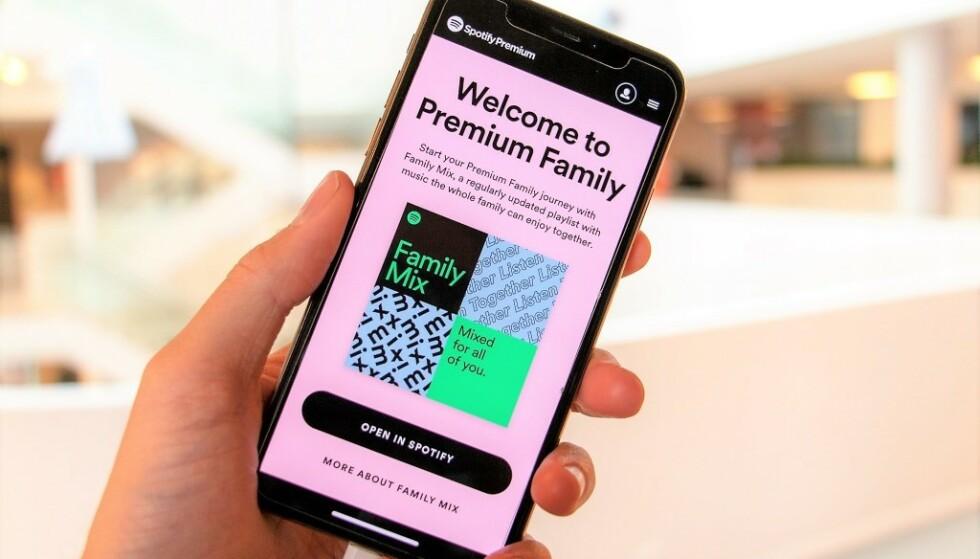 POPULÆRT: Spotifys familieabonnement er en populær og praktisk løsning, også for andre enn familier som bor sammen. Foto: Martin Kynningsrud Størbu