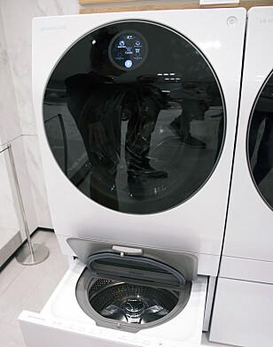 LG satser på to i ett-varianter for vasking av flere klesvask samtidig. Foto: Berit B. Njarga