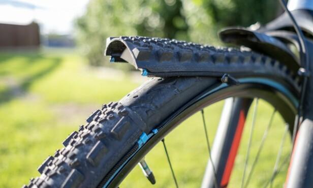 Et ekstra lag med «dekk» gjør Retyre ekstra punkteringssikkert. Foto: Martin Kynningsrud Størbu