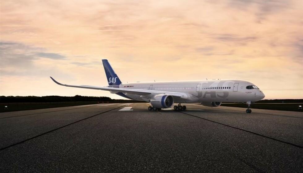 NYTT UTSEENDE: Sas endrer designet til samtlige flymaskiner, og det var nok på tide. Foto: Sas.