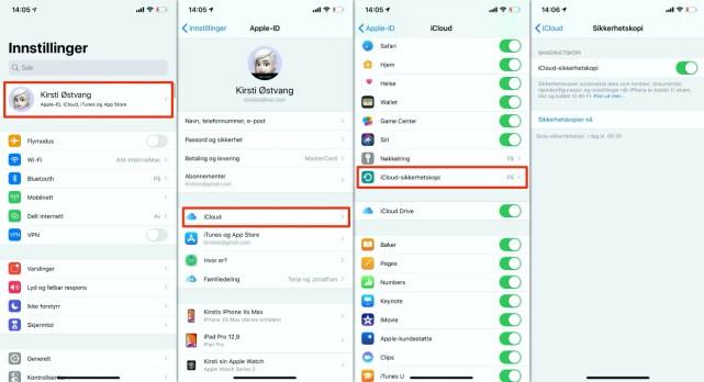 GJØR DETTE FØRST: Vær helt sikker på at iPhone-en din er sikkerhetskopiert før du oppdaterer. Klikk for større bilde. Skjermbilde: Kirsti Østvang