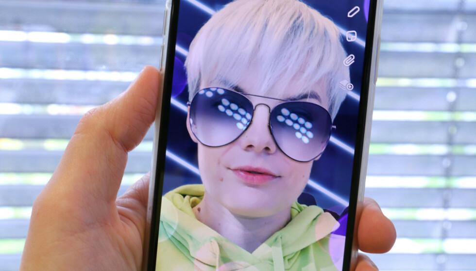 NÅ I 3D: Snapchat introduserer en ny funksjon som gir selfier i 3D. Dette bildet beveger dessverre ikke på seg. Foto: Kirsti Østvang
