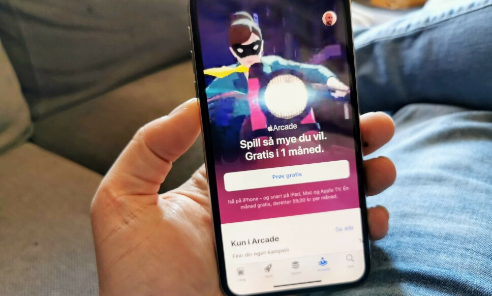 PRØV GRATIS: Apple Arcade er lansert, og du kan prøve tjenesten i en måned uten å betale for deg. Foto: Pål Joakim Pollen