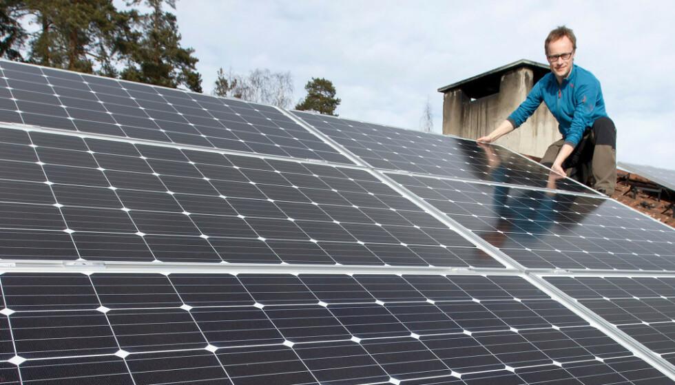 KUTT: Enova varsler at støtten for solceller reduseres med 2500 kroner. Foto: Gorm Kallestad/NTB Scanpix