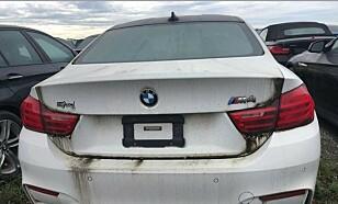 BMW M4: Denne dyre sportsbilen er blant de 3000 bilene som nå forfaller på parkeringsplassen. Foto: Litte Rascall's Racing / Instagram
