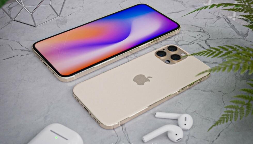 BLIR DE SLIK? iPhone 12-ryktene har allerede begynt å svirre, og Apple-analytikeren Ming-Chi Kuo mener at designet nå vil bli tuftet på iPhone 4-designet . Foto: Ben Geskin