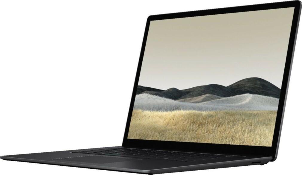 SURFACE LAPTOP 3: Dette lekkede bildet skal være den nye Surface Laptop 3 hvis skjerm er 15 tommer. Foto: Evan Blass / Twitter