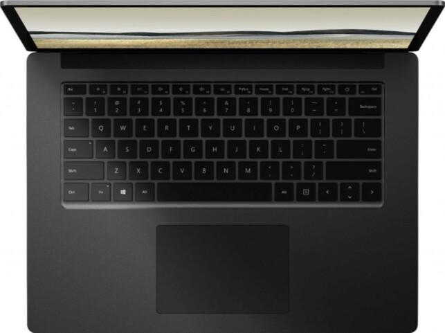 """ALCANTARA: Surface Laptop 3 15"""" får et mer tradisjonelt laptop-design uten Alcantara-stoffet rundt tastaturet og styreflaten. Foto: Evan Blass / Twitter"""