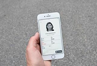 Trøbbel med førerkort-appen