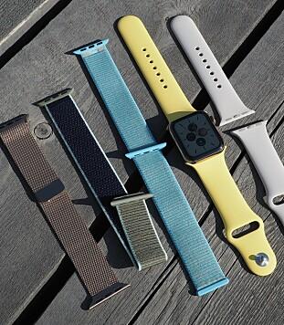 <strong>MIKS OG MATCH:</strong> Apple tilbyr et stort utvalg remmer til Apple Watch alt fra gummi til metall. Sport Loop-varianten i borrelås kan fås i en Nike-utgave som også fungerer som refleks. Bra å ha når man løper når det er mørkt ute. Foto: Kirsti Østvang