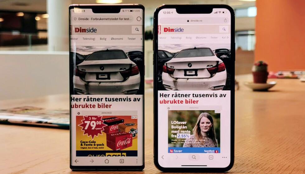 BRED: Som du ser av bildet, har Huawei klart å skvise sammen busslomma på sin nye Mate 30 Pro, som i praksis har samme type teknologi innabords som Apples variant. Foto: Pål Joakim Pollen