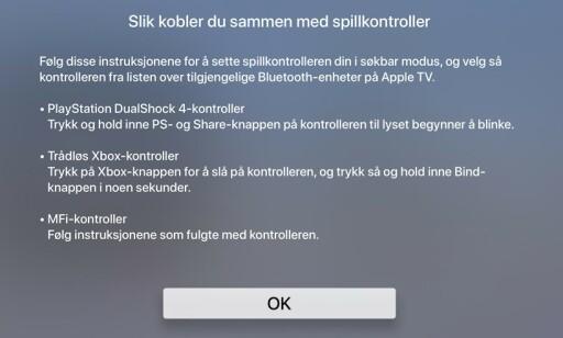 SPILLKONTROLLER: Nå kan du koble spillkontrolleren din til Apple TV med tvOS 13.