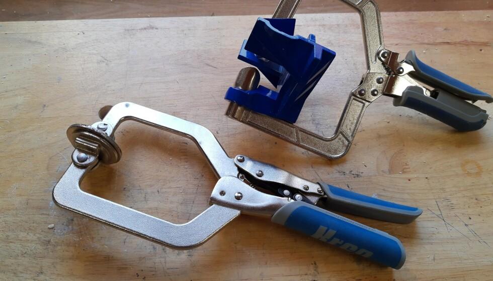 LIKHETSTREKK: Samme selvjusterende prinsipp har vi sett i festeklemmen til lommehullsjig fra Kreg. Foto: Brynjulf Blix