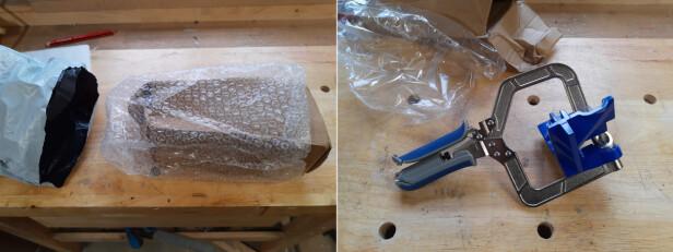 IKKE GODT PAKKET: Emballasjen var simple saker som gjorde at klemmen fikk skader i transporten. Foto: Brynjulf Blix