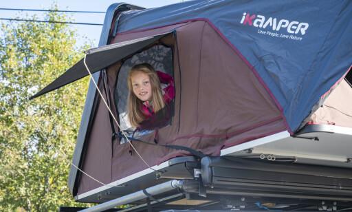 UTSIKT: Med vinduer og myggnetting i begge ender og i taket, er det både god lufting og utsikt i fra teltet. Foto: Jamieson Pothecary