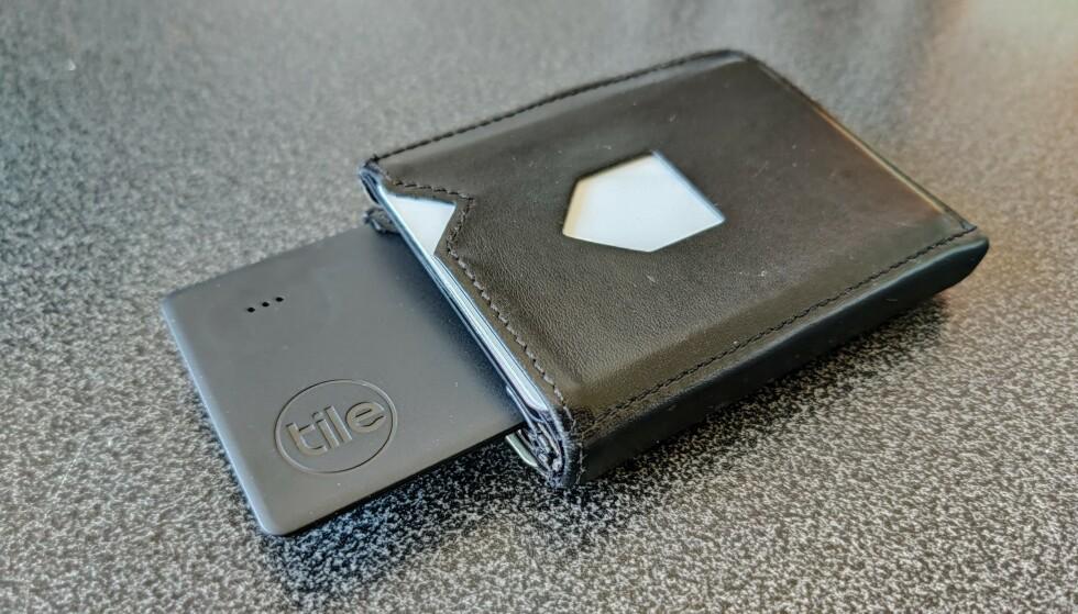 TILE SLIM: Nye Tile Slim er formet som et bankkort. Foto: Martin Kynningsrud Størbu