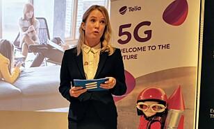 Jenny Lindquist fra Ericsson har troen på at 5G-nettet raskere blir tatt i bruk enn hva tilfellet var for 4G. Foto: Pål Joakim Pollen