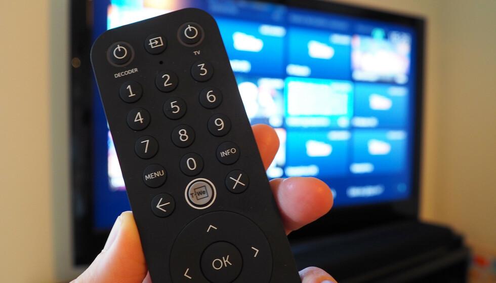 EGEN KNAPP: På T-WE boks II er det lett å starte T-We-tjenesten fra en godt synlig knapp. Foto: Kirsti Østvang