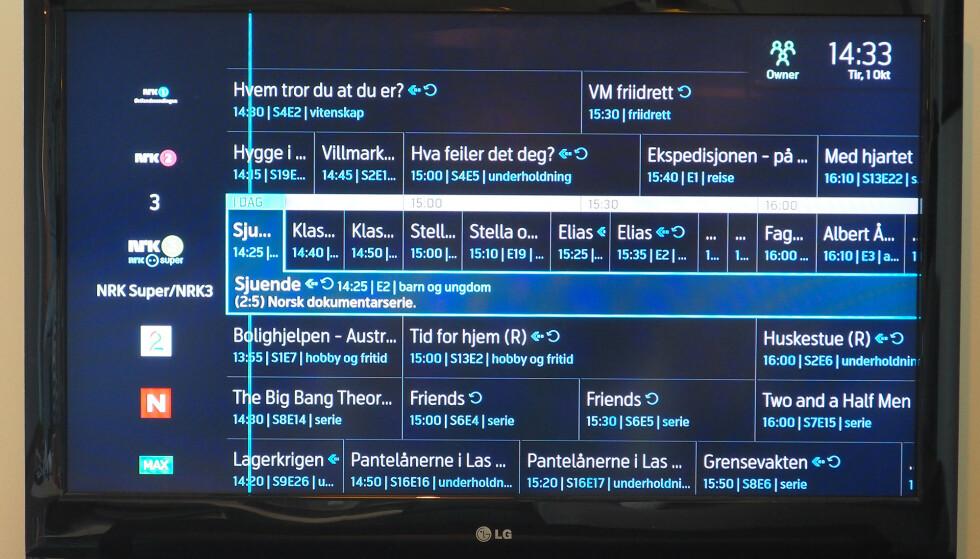 PUSSET OPP: Telenor har også frisket opp utseendet på TV-guiden. Foto: Kirsti Østvang