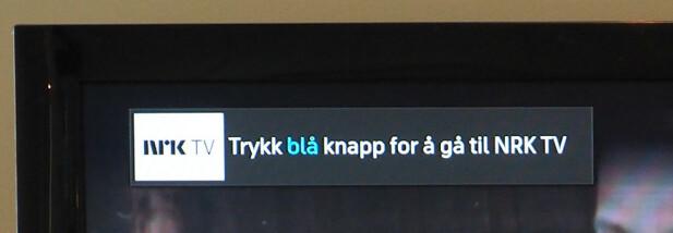 RETT TIL NETT-TV: På for eksempel en NRK-kanal kan du også gå rett til NRKs nett-TV-app. Foto: Kirsti Østvang