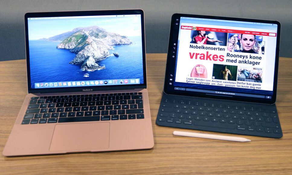 IPAD SOM EKSTRA SKJERM: En av nyhetene i macOS Catalina er at du kan koble til og bruke en iPad som ekstra skjerm. Foto: Kirsti Østvang